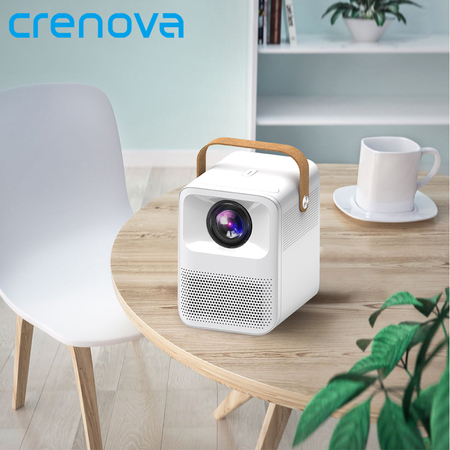 CRENOVA Full HD 1080p Projector for Home Protable Phone Mobile Mini projector ET3 Video New Year Bea