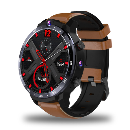LEMFO LEM12 Smart Watch 4G 1.6 inch Full Screen OS Android 7.1 3G 32G Face ID LTE 4G Sim Camera GPS