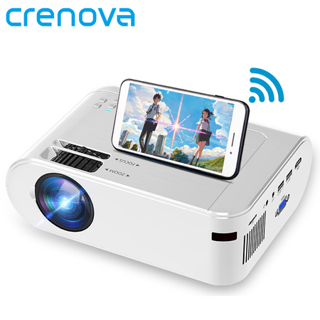 CRENOVA Mini projector for Home Protable Phone Full HD 1080p Projector Mobile M01C Video New Year