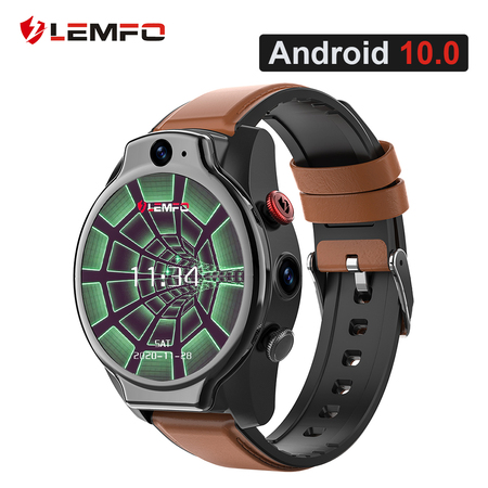 LEMFO LEM14 Smart Watch 4G 5ATM Waterproof Android 10 Helio P22 Chip 4G 64GB LTE 4G SIM 1100mAh Face